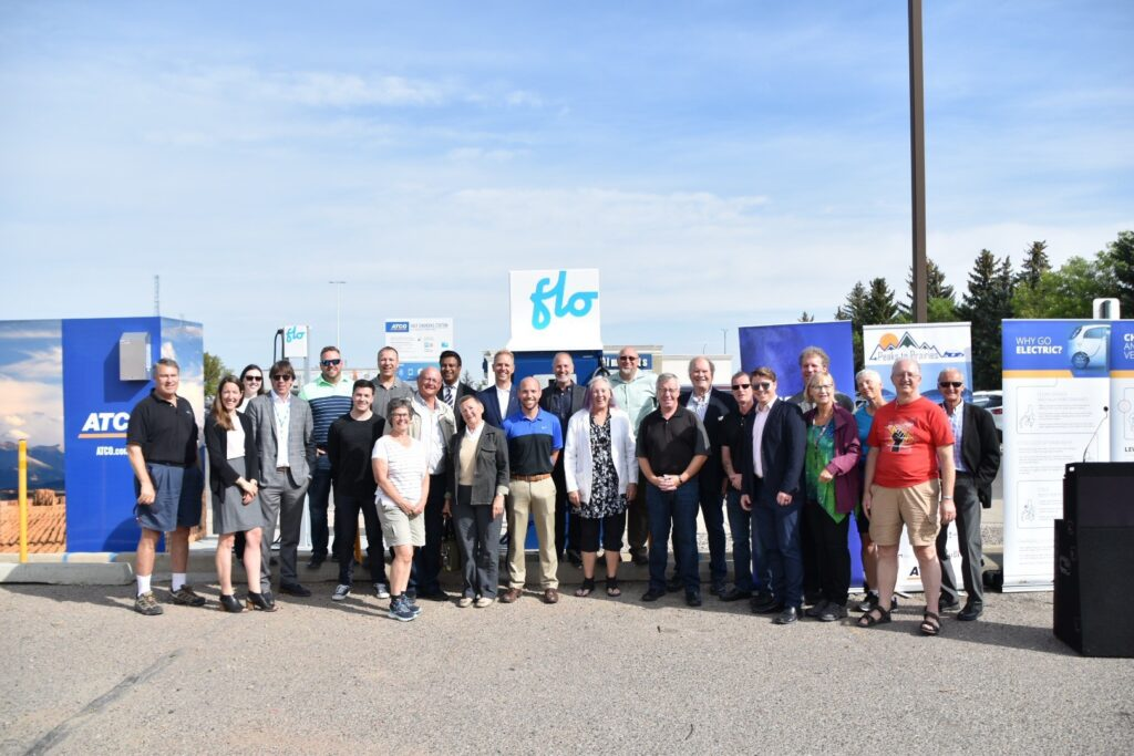 Peaks To Prairies Lethbridge electric vehicle station celebration